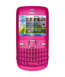 Pink Nokia C3 Mobile
