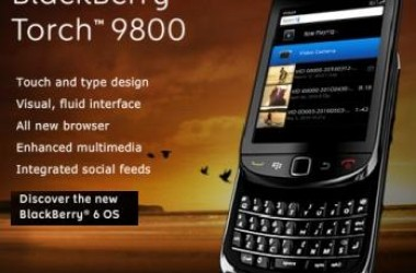 RIM Launched BlackBerry Torch 9800 Mobile Phone in India – Price and Features