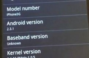 Android 2.3.1 Gingerbread Installation On iPhone & iPod Touch
