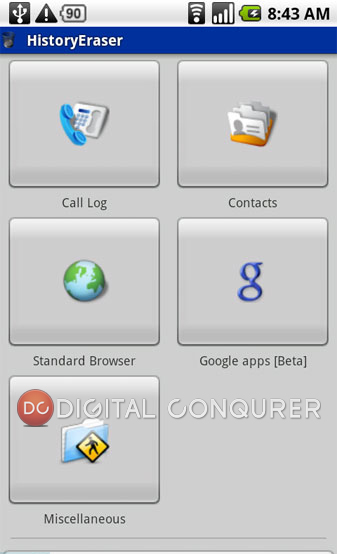 History Eraser Android App
