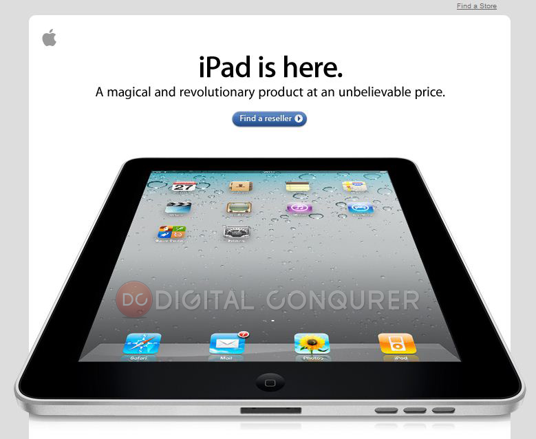 iPad Officially Launched in India For Rs 27,999