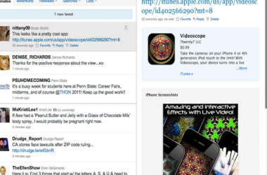 Apple App Store Integrated with Twitter Website