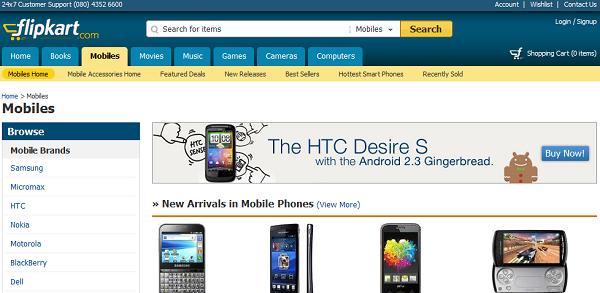 Flipkart Online Gadget Shopping  India Portal