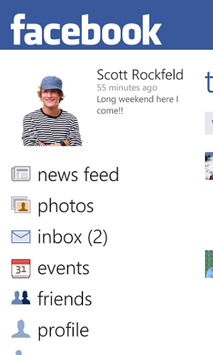 Facebook App For Windows Phone 7
