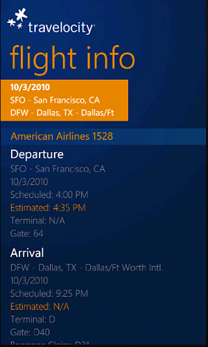 Travelocity App