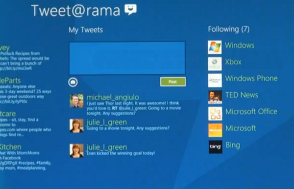 Windows 8 From Microsoft Preview Features