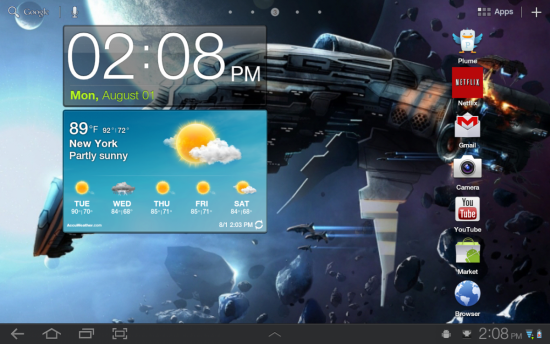 New Features Samsung galaxy Tab 10.1 Touchwiz UX