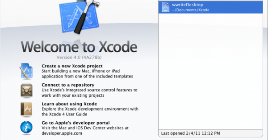 XCode 4: Secret Weapon for Mac OS X Development
