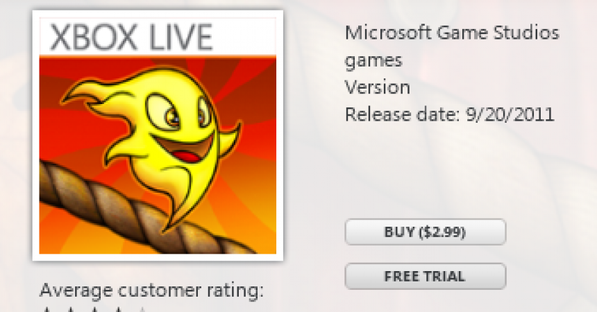 Burn The Rope Game Now Available On Windows Phone 7 [XBOX Live]