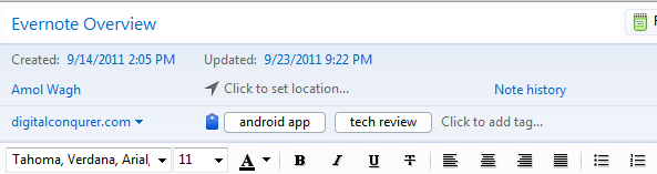 evernote note capabilities