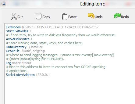 Edit torrc file image