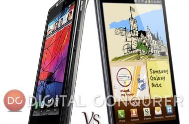 Comparison: Motorola Droid Razr Vs Samsung Galaxy Note Smartphone