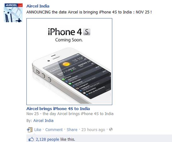 iPhone 4S in India Launch Date Confirmed