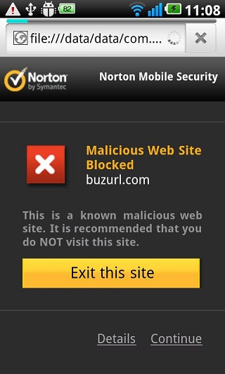 Web Protection- Norton Mobile Security
