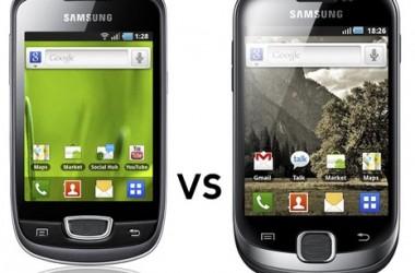 Samsung Galaxy Fit S5670 vs Galaxy Pop S5570 Comparison
