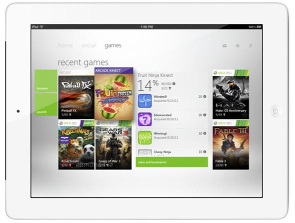 Xbox LIVE for iPad 2