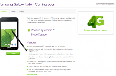 Samsung Galaxy Note Will Be Availble In Canada By Telus !