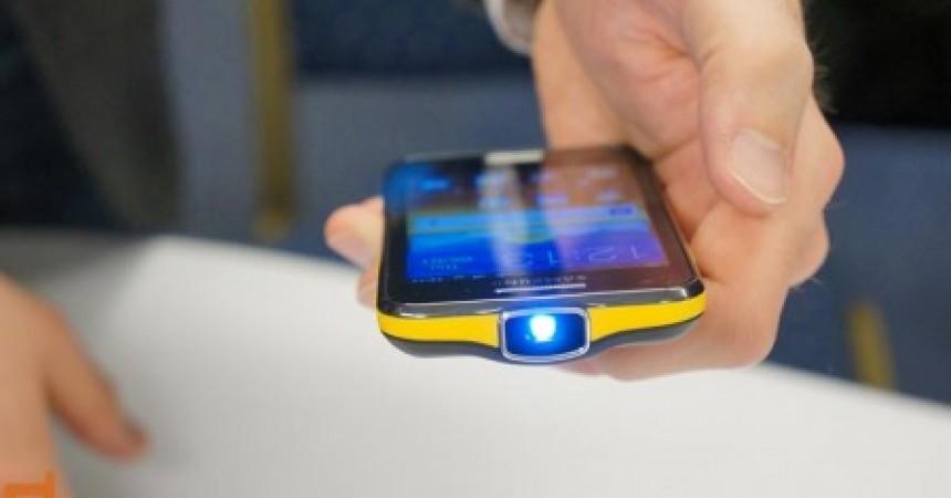 Samsung Galaxy Beam Projector Smartphone Video Demo [MWC 2012]