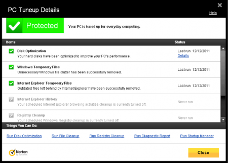 Tune up PC With Norton 360 V 6.0