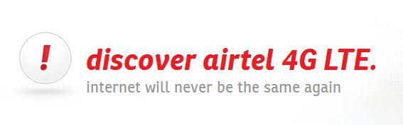 Airtel 4G LTE Plans in India
