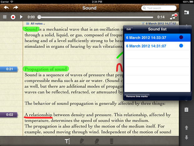 AudioNotepad HD App For iPad