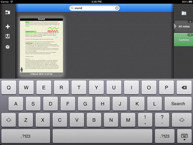 AudioNotepad HD App For iPad Screenshot