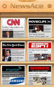 NewsAce Android App Review UI