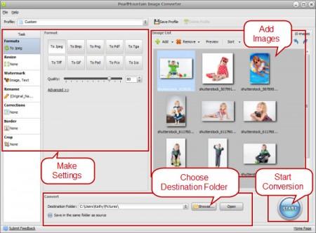 Pearlmountain Image Converter Pro Interface