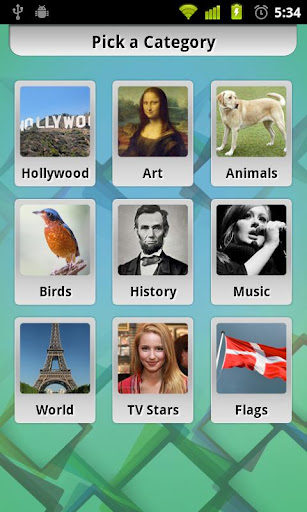 Photos Trivia Android App