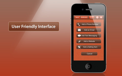 Quick Launch iPhone App Interface