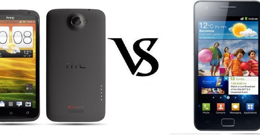 HTC One X Vs Samsung Galaxy SII Smartphone Comparison