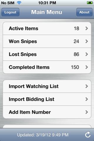 iPhone App Review Mybidder Auction