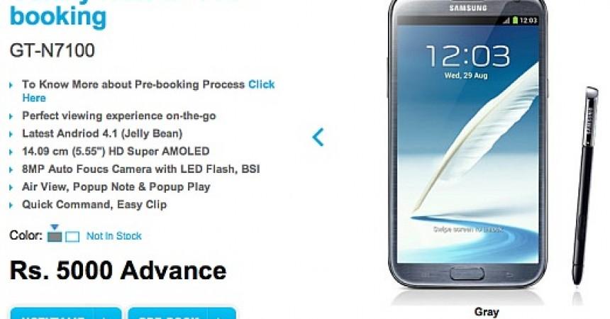 Samsung Galaxy Note II pre-orders begin in India