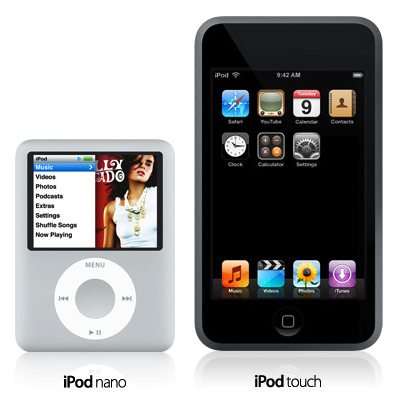 iPod Nano and the iPod Touch