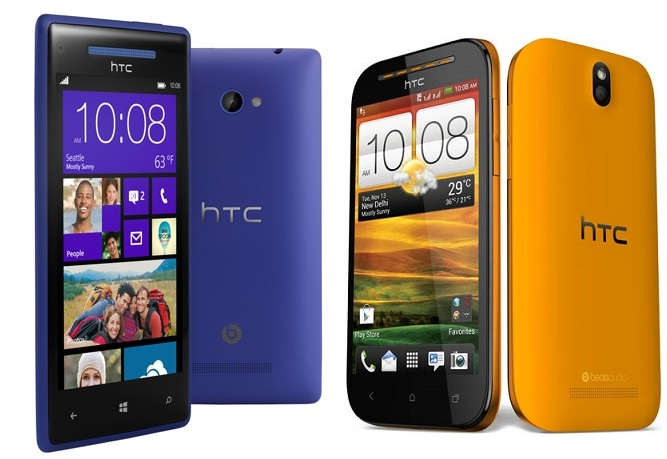 HTC 8X & Desire SV Now Available Online