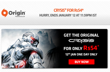 Buy Crysis Game At Rs.54 Only – Killer PC Game Offer! [Valid For Today Only]