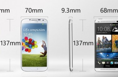 Comparing Samsung Galaxy S4 and HTC One