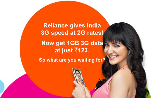 Reliance 3G Data Plans
