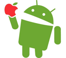 android-eating-apple