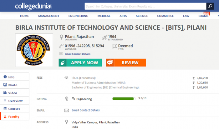 Search Best Engineering Colleges in India