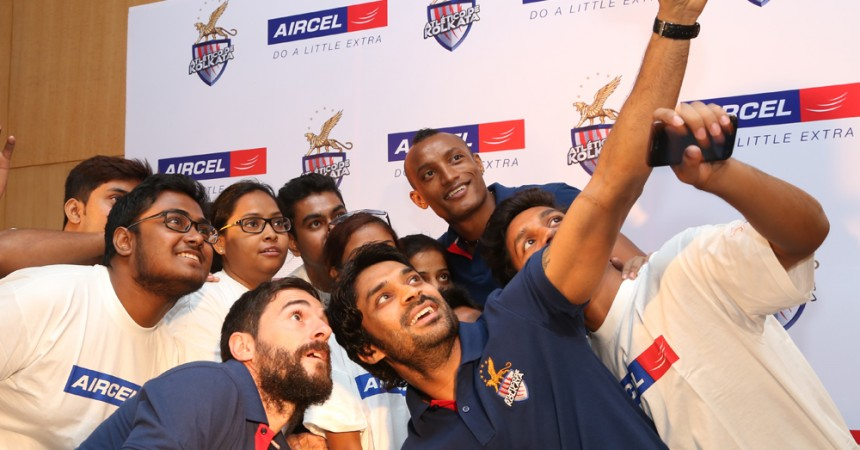 Atlético de Kolkata Players Meet Students Of Aircel A+ Centre