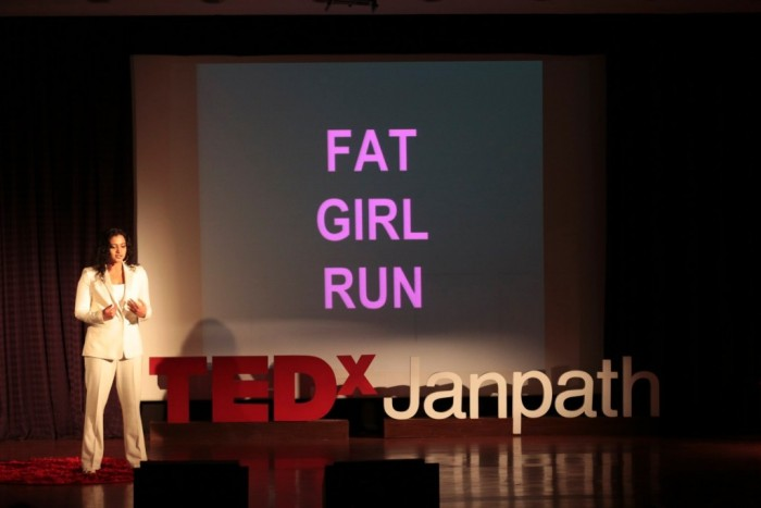Amruda Nair speaking at TEDxJanpath
