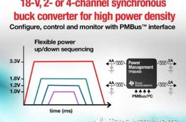 TI Introduces Industry's First 18-V Multi-channel Synchronous Buck Converter With PMBus™ Digital Interface