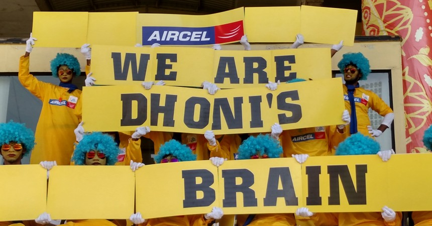 """Aircel's New Innovative Brand Activation Campaign """"Dhoni's Brain"""" De-codes Emotions Of MS Dhoni During CSK Games"""