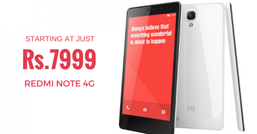 Overcart Brings You The Redmi Note 4G At Exclusive Price!