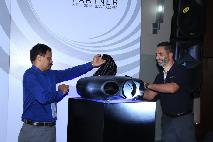 (L to R)Mr. Samba Moorthy, Vice President, Sales and Marketing, Epson India and Mr. Tushad Talati, Sr. General Manager, Brand and Communication unvieling the product