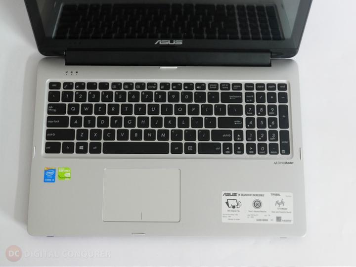 Asus TP550LD CJ005H review top keyboard long top