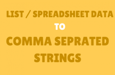 List to Comma Separated Strings With Free Online Comma Separator Tool