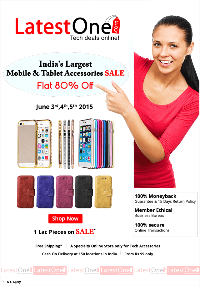 LatestOne.com  largest Mobile & Tablet Accessories sale.