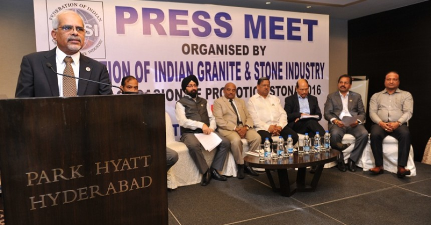 "Federation of Indian Granite and Stone Industry to organizes ""STONA 2016 Fair"" in Hyderabad."